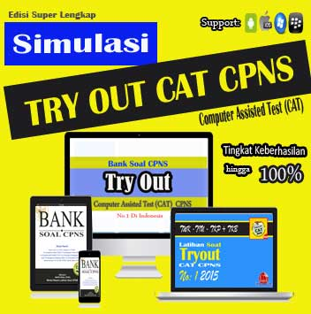 simulasi tryout cat cpns, try out bank soal cpns, kompetensi tryout soal cpns